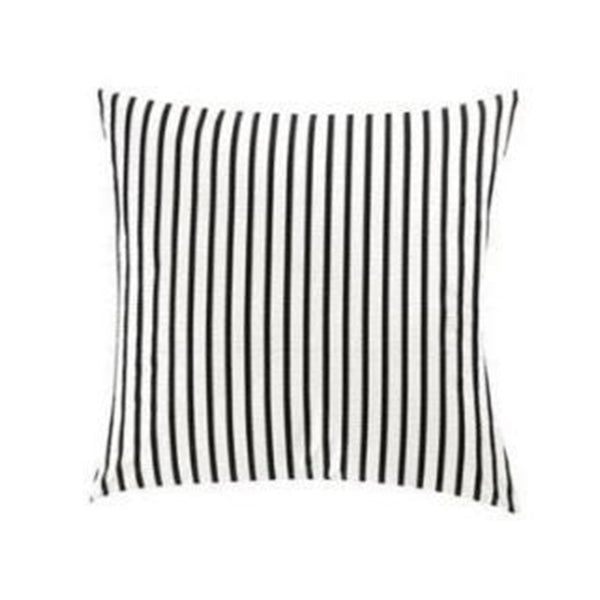 Outdoor Cushion - Black White Stripes