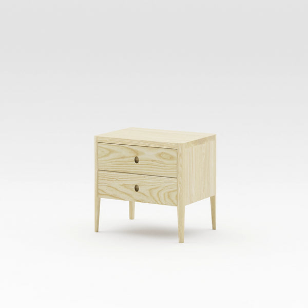 Alba Two Drawer Bedside