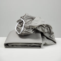 smoke cotton fitted sheet