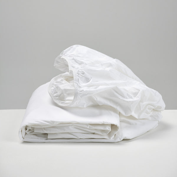 White Cotton Fitted Sheets