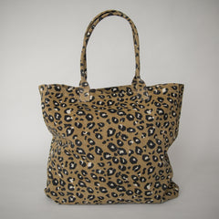 Great Big Bag - Leopard Camel