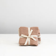 Knitted Wash Cloths - Pink