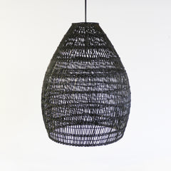 Rattan Lampshade - Black