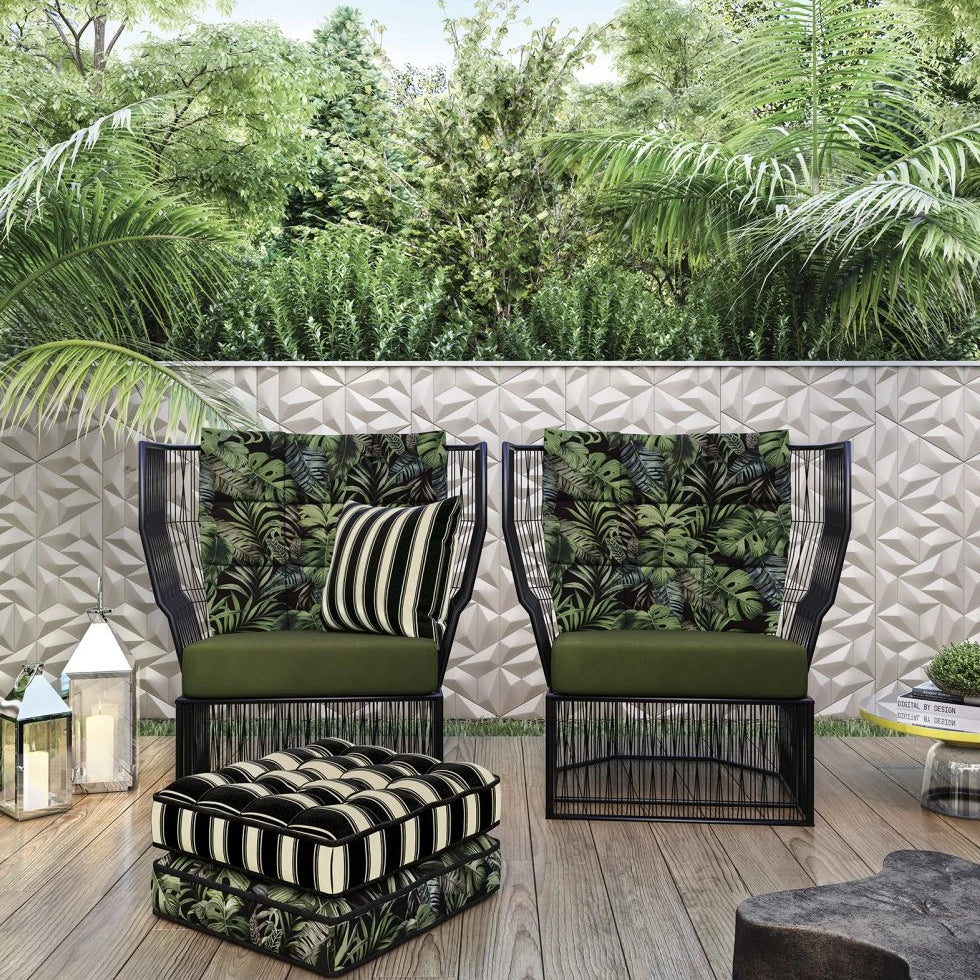 Outdoor Cushion - Textured Green