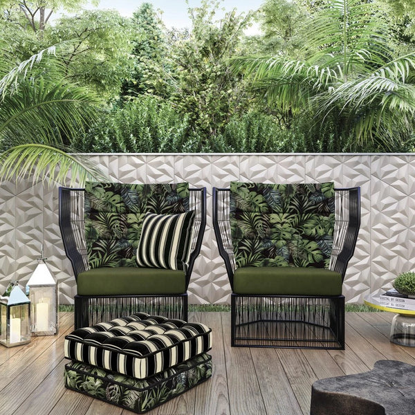 Outdoor Cushion - Black Stripe
