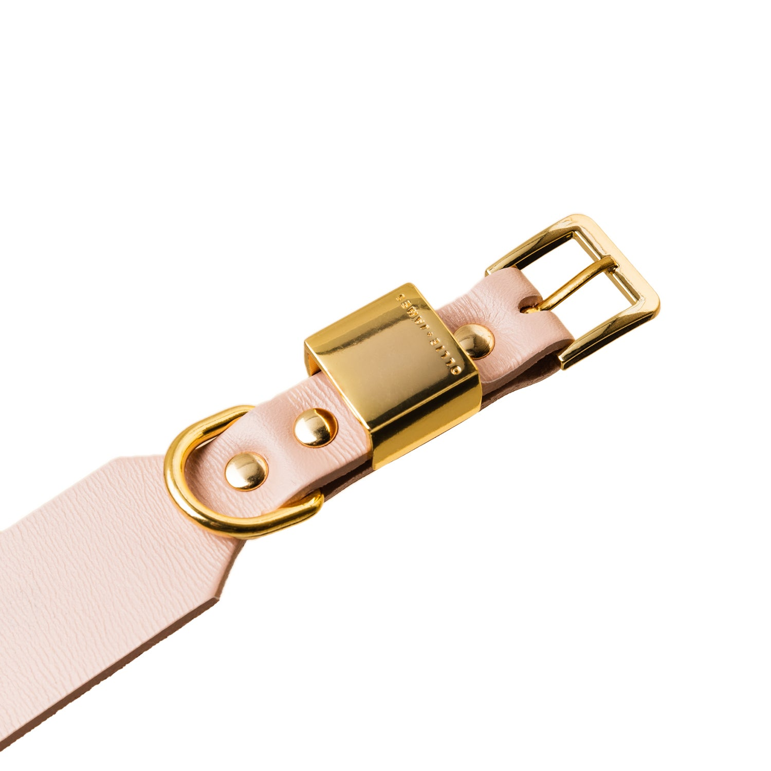 Leather Dog Collar - Blush