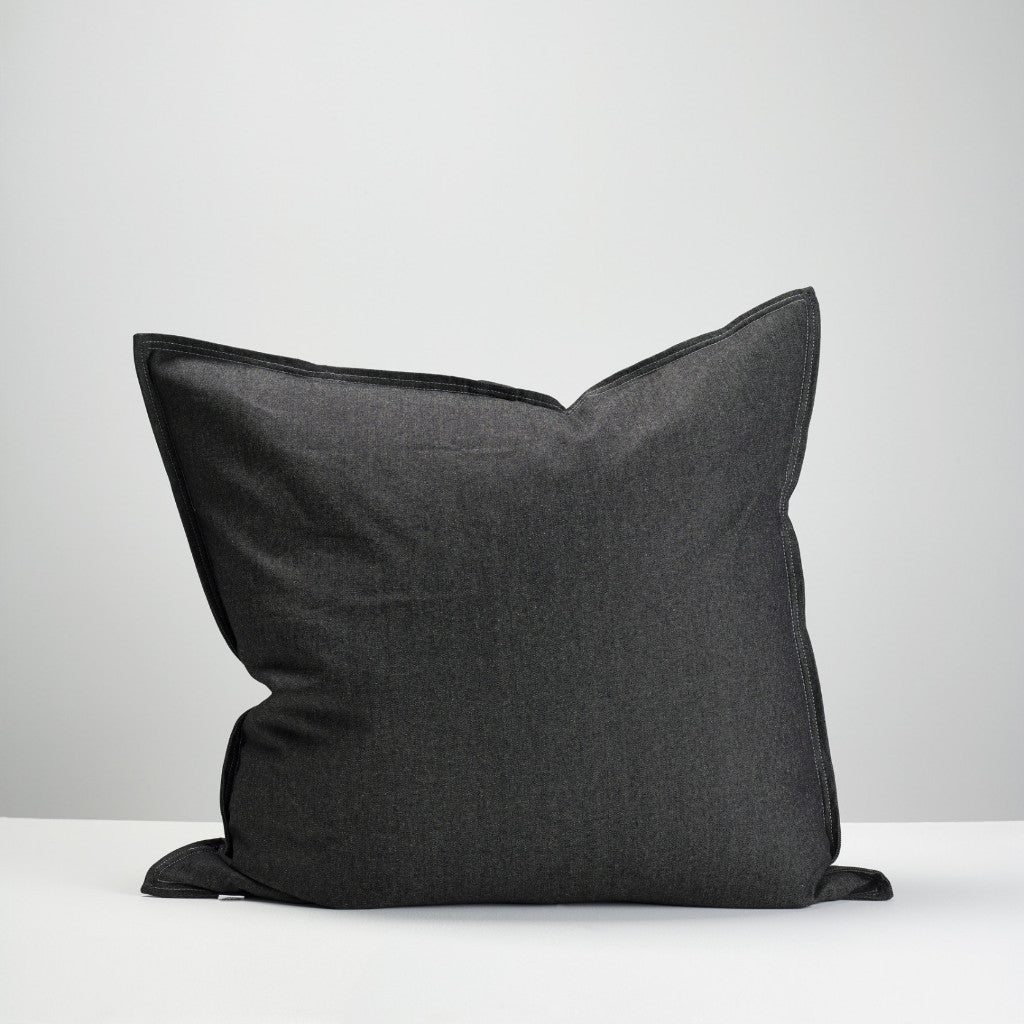 black denim european pillowcase