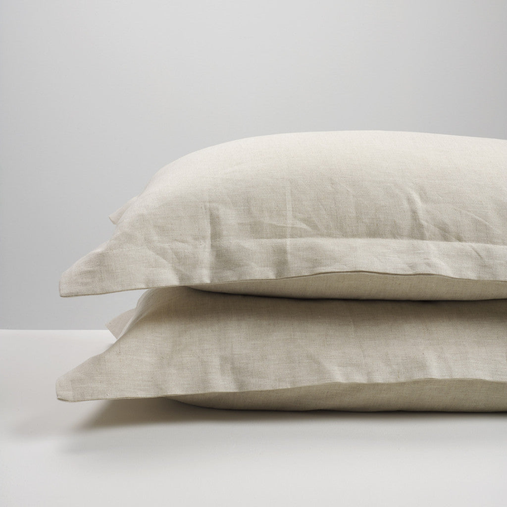 Natural linen pillowcases