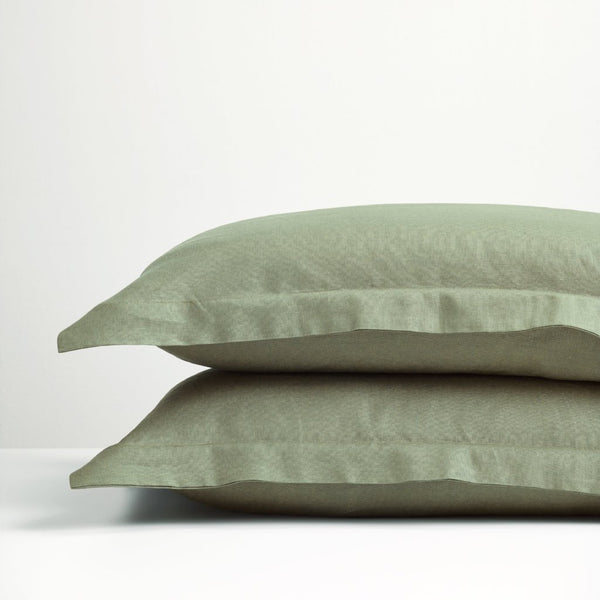 Sage Green linen pillowcases