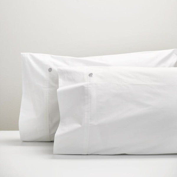 White cotton pillowcases
