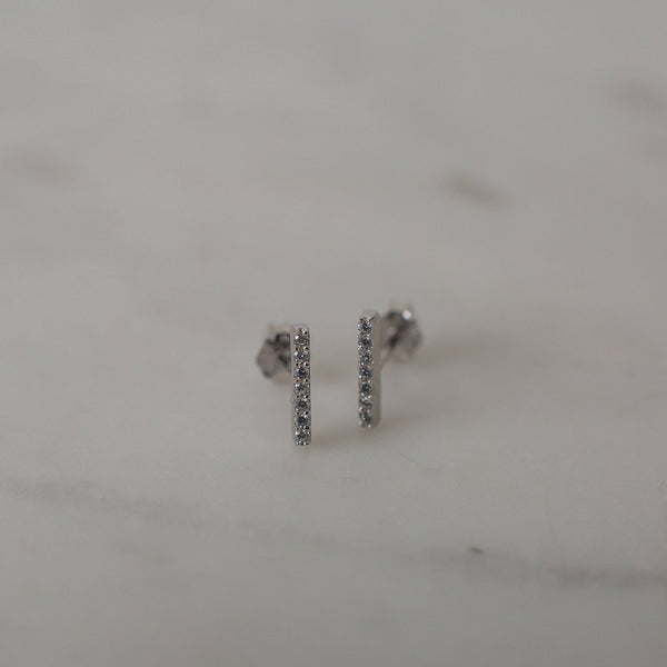 Sparkle Bar Studs Earrings