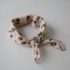 Leopard Mini Scarf Blush