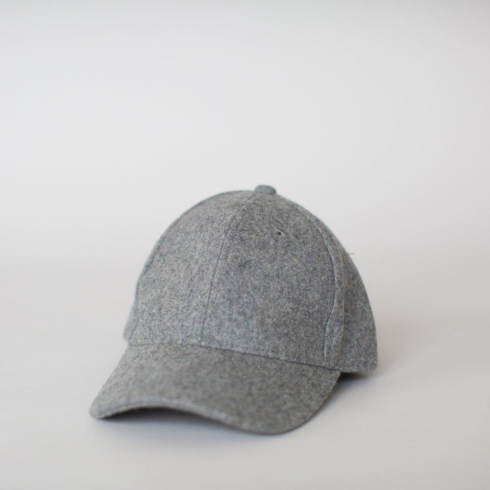 Wool Cap - Grey Marle