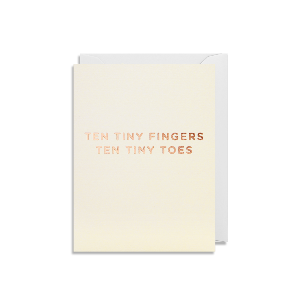 Ten Tiny Fingers.. Card