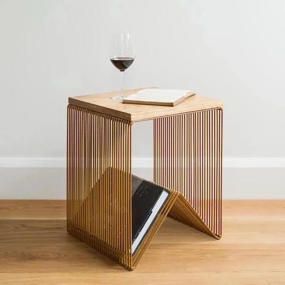 Wire Side Table - Toffee