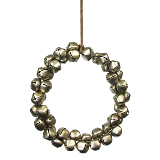 Gold Metal Bell Wreath