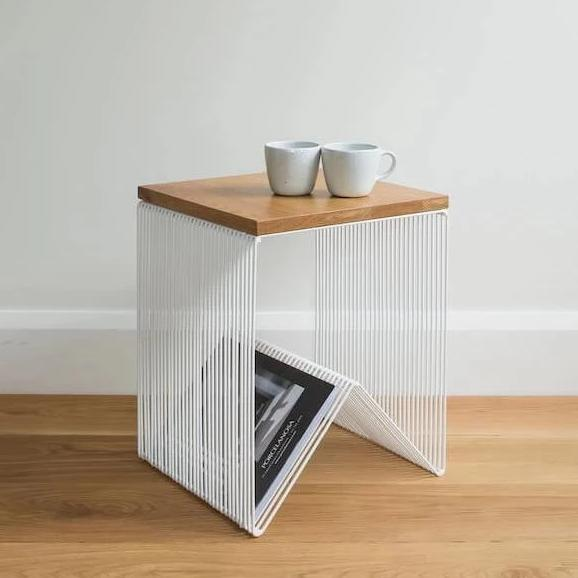 Wire Side Table - White
