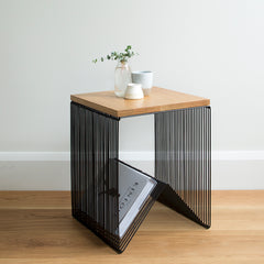 Wire Side Table - Black