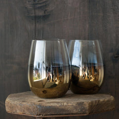 Cariso Gold Stemless Glasses - set of 4