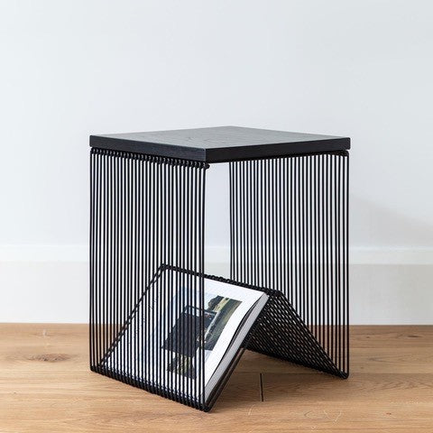 Wire Side Table - All Black