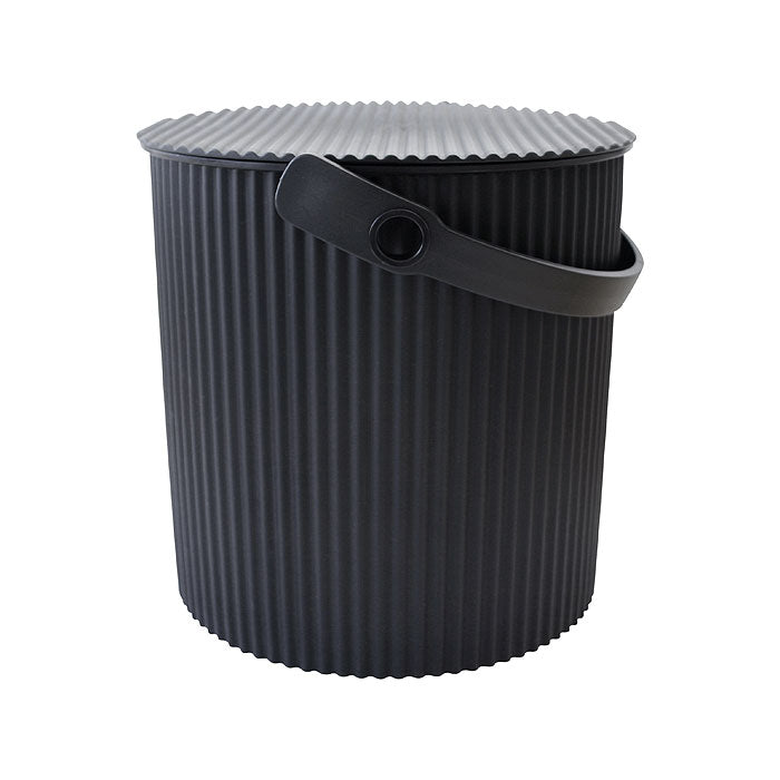 Omnioutil Storage Bucket with Lid - Black