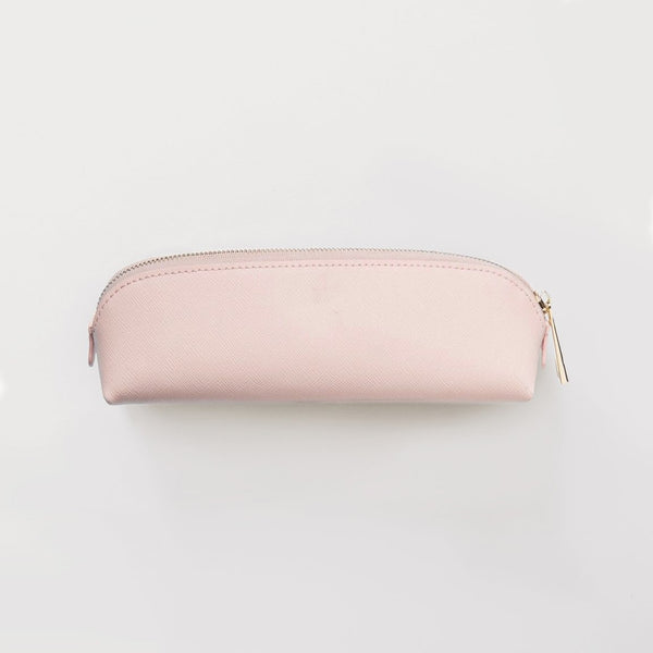Leather Pencil Case - Pink