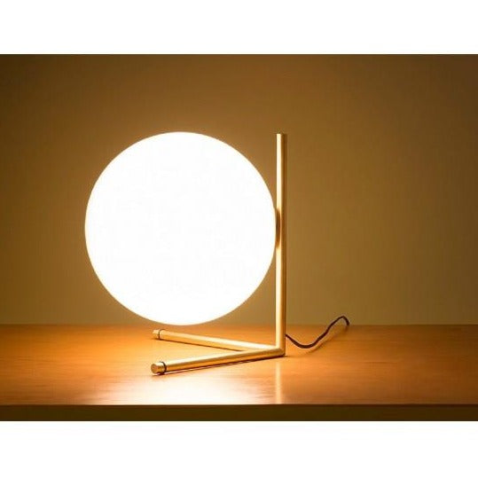 Glass Globe Side Lamp