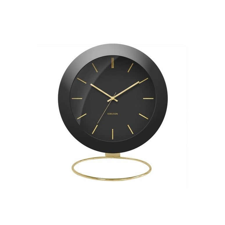Globe Alarm Clock - Black & Gold