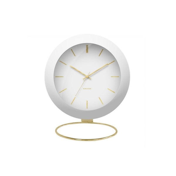 Globe Alarm Clock - White & Gold