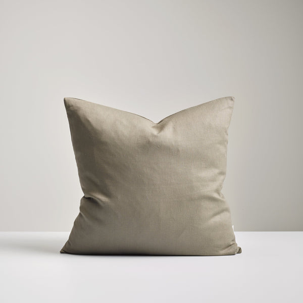 Olive Linen Cushion