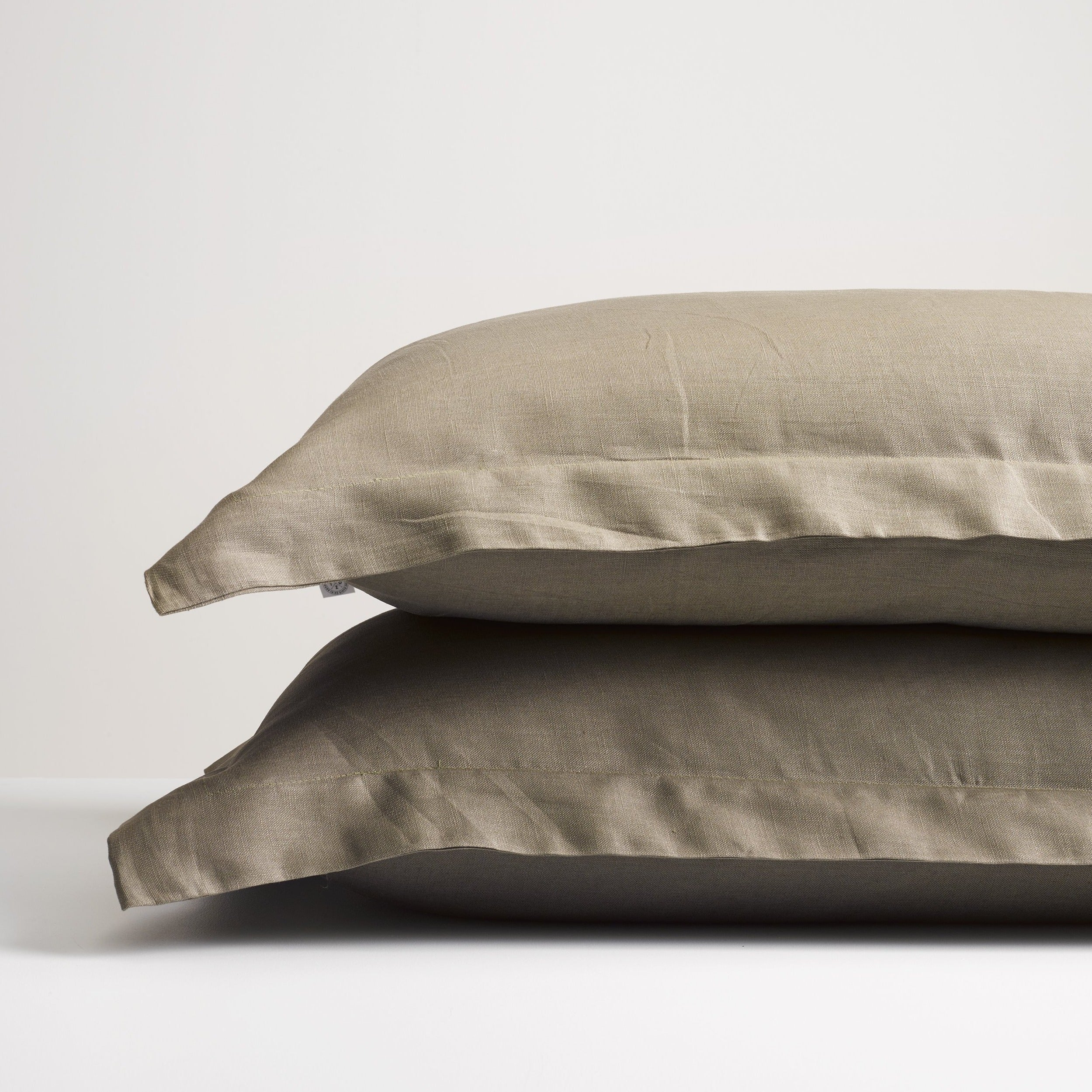 Olive Linen Pillowcases