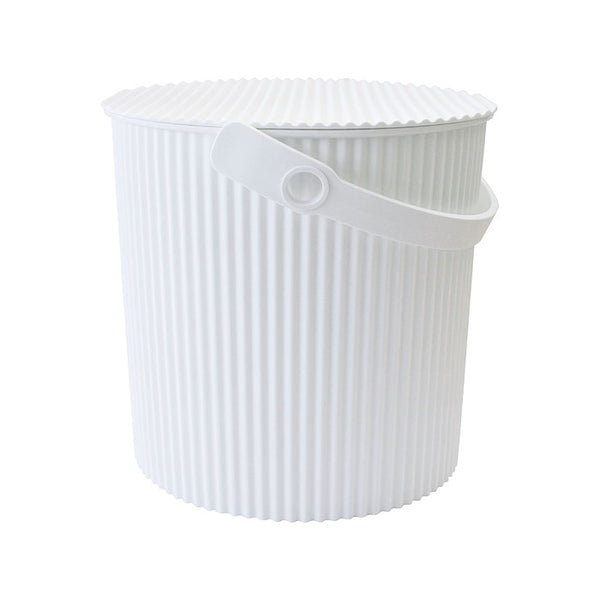 Omnioutil Storage Bucket with Lid - White
