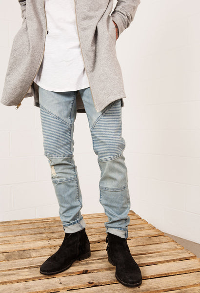 Moto Denim Pants