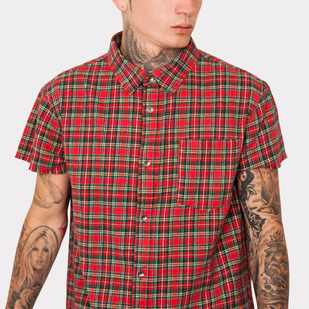 SS Raw Edge Button Up Flannel