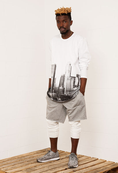 Cityscape Curved Hem Tall Tee