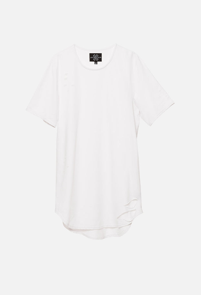 Destructed Curved Hem Tee