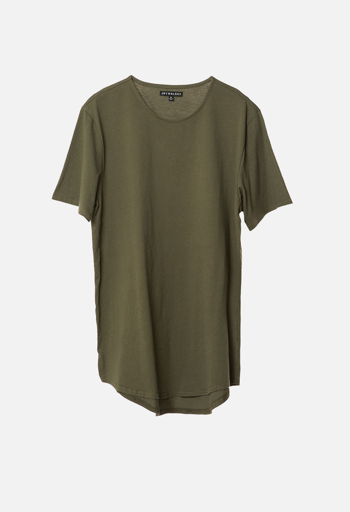 Elongated Curved Hem Tee