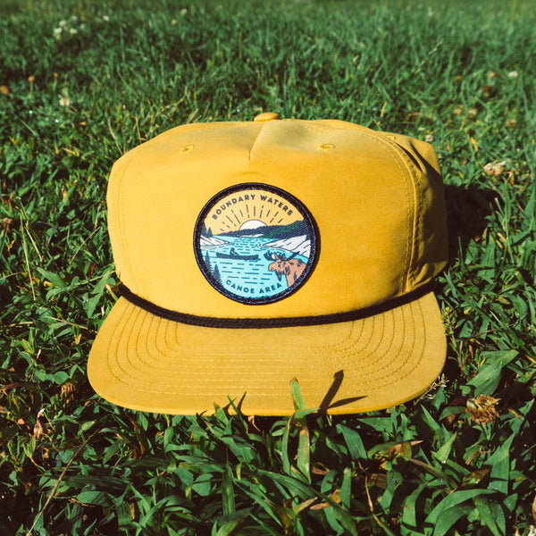 Boundary Waters Canoe Trip Cap - Yellow, Caps - Humble Apparel Co
