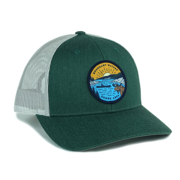 Boundary Waters Canoe Trip Cap (Green), Caps - Humble Apparel Co