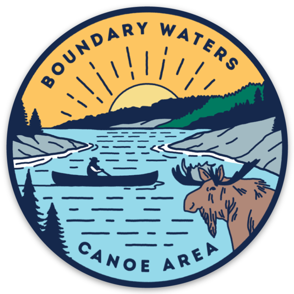 Boundary Waters Canoe Area Circle Magnet, Magnet - Humble Apparel Co