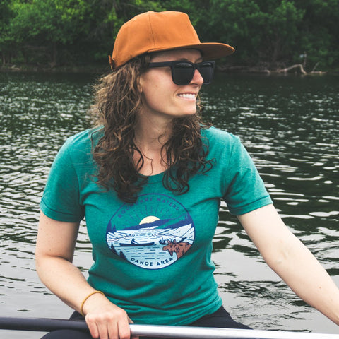 Boundary Waters - Basswood Lake Women's T-Shirt - Humble Apparel Co