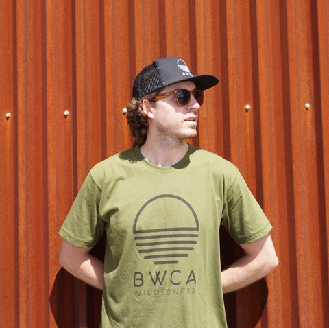 BWCA Sunset Wilderness T-Shirt - Olive