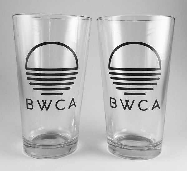 BWCA Sunset Pint Glass Set of 2