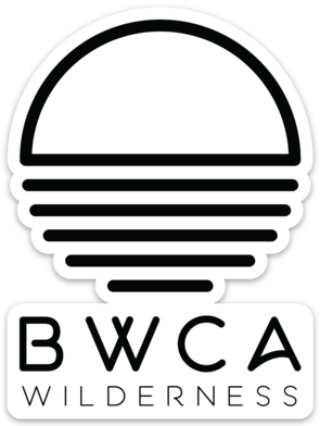 BWCA Wilderness Sunset Sticker - Transparent, Stickers - Humble Apparel Co