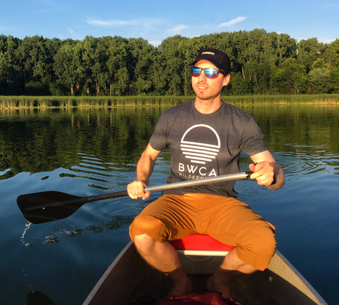 BWCA Sunset Wilderness T-Shirt - Midnight Navy