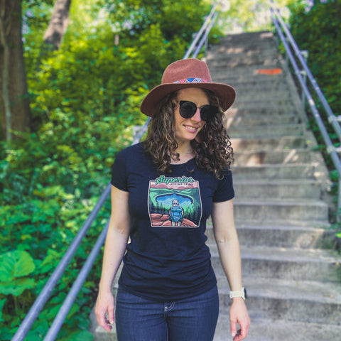 Superior Hiking Trail - Bean and Bear Lakes Women's T-Shirt, Shirts - Humble Apparel Co