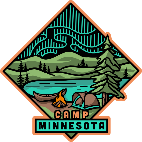Camp Minnesota Sticker, Stickers - Humble Apparel Co