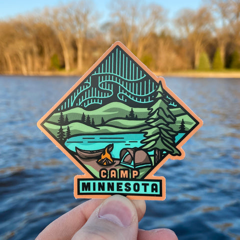 Camp Minnesota Sticker - Humble Apparel Co