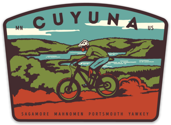 Cuyuna Mountain Biking Sticker, Sticker - Humble Apparel Co