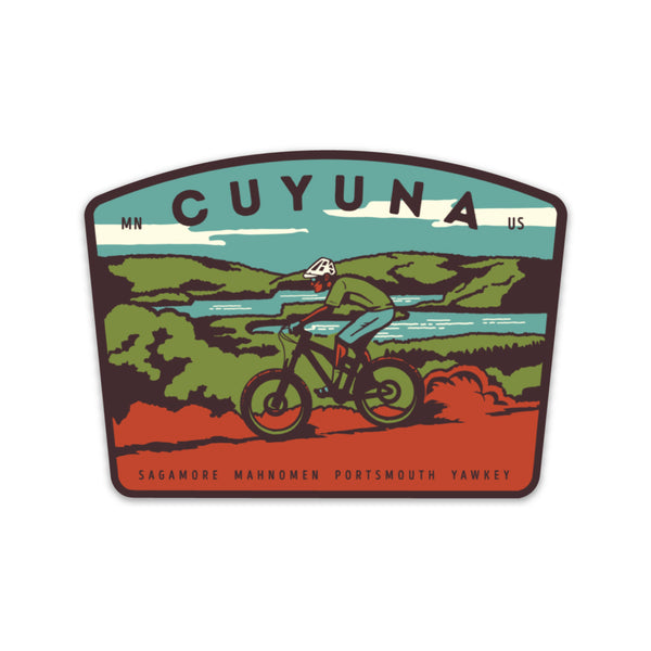 Cuyuna Mountain Bike Sticker, Stickers - Humble Apparel Co